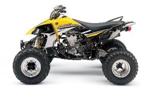 This special edition yellow Yamaha YFZ450 broke with color schemes that OEMs traditionally use for their machines. Yamahas are usually blue.