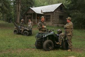 Some of the larger utility ATV machines are suitable for activities such as hunting, with capacity to carry game and supplies.