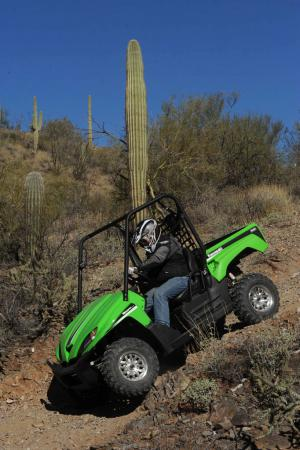 The shocks on the Teryx Sport are adjustable, so you can set them up for the type of terrain you ride on.