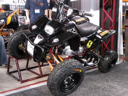 This DRX 50 Youth Quad from DRR was outfitted with products from Tarantula Performance Racing, Elka shocks and Four-Play A-arms. By the way, all DRR Youth quads are compliant with the new anti-lead legislation.