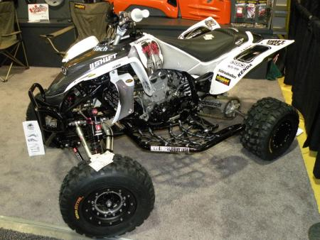 Jeff Vanasdal, who writes for ATV.com, built up this YFZ450 for the show, featuring his own �stripper� graphics. Jeff is currently building up a new machine for ATV.com that we will unveil in the coming weeks.