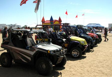 There were 50 vehicles entered in Saturday's Show and Shine, including these Arctic Cat Prowlers and Ranger RZRs.