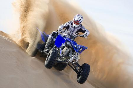 Even in its completely stock form, the YFZR has plenty of power on tap for some fun dune action!