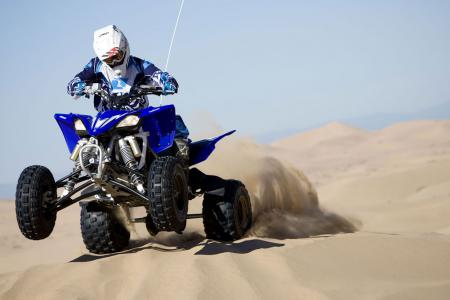 The YFZ450R had plenty of power in stock form to loft the front end at will.