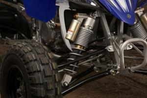 With its factory built long-travel suspension and extra width, the YFZR can smooth out even the roughest dunes.