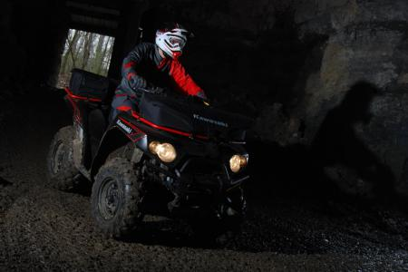 Riding in the underground mines was a blast. It was pitch black in there and the headlights showed us the way.