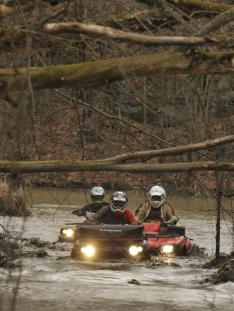 We probably wouldnt do this with our own ATVs, but its nice to know you can.