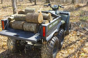 The cargo bed on the Big Boss 6x6 can handle a huge load.