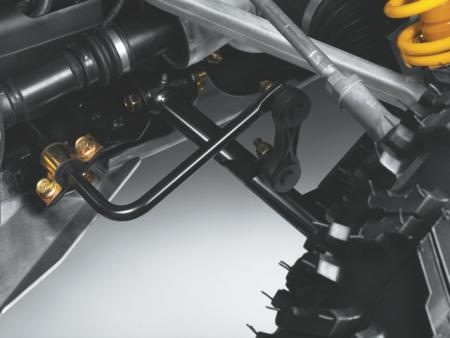 Exclusive front swaybar featured on the Renegade 800R X xc.