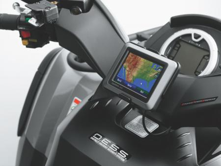 Outlander MAX LTD models feature an updated Garmin GPS unit.