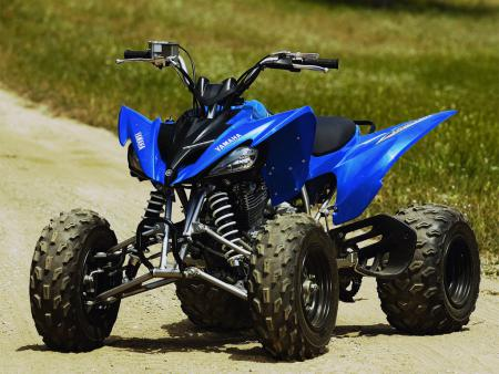 Before: Stock 2009 Yamaha Raptor 250.