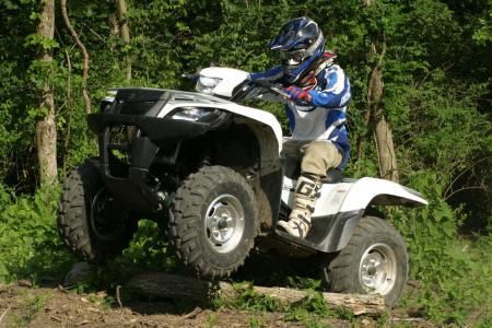 Suzuki's power steering system reduces feedback to the handlebars from logs, rocks and other trail obstacles.