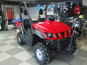 The Yamaha Rhino is among the smallest machines examined, at 113.6 inches long and 54.5 inches wide.