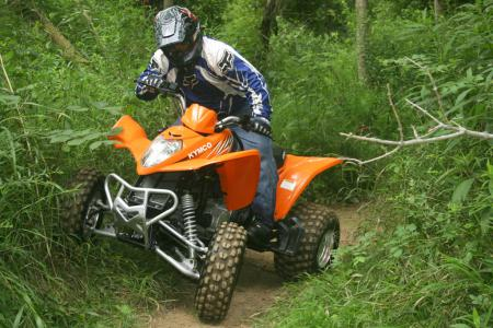 Kymco gave the Mongoose 300 a significant facelift in 2008. The result is an impressive entry level sport quad.