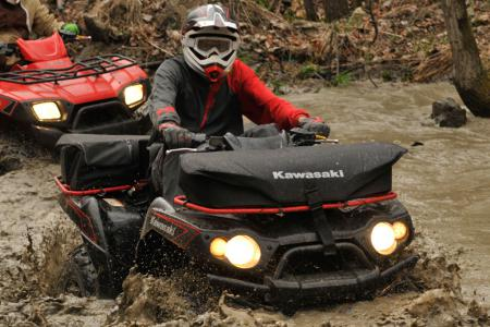 Despite riding through all sorts of water and mud, the Ride pants always kept our legs dry.