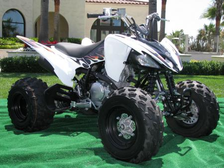 This is a big departure from the classic Yamaha blue that used to adorn the Raptor 250.