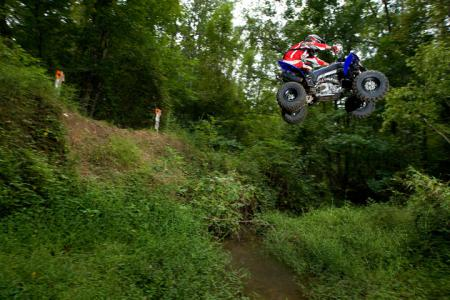 Our fearless writer takes a leap of faith on the YFZ450X.