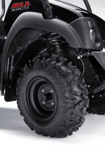 26-inch Maxxis Bighorn radial tires give the Mule a lot more off-road bite.