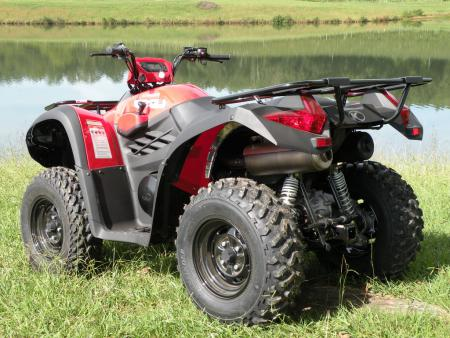 Kymco brings IRS to its largest displacement ATV.