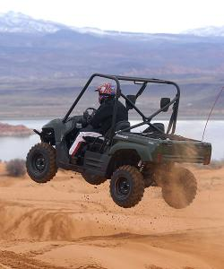 Even if you're riding within the relative safety of a UTV, a helmet is a must.