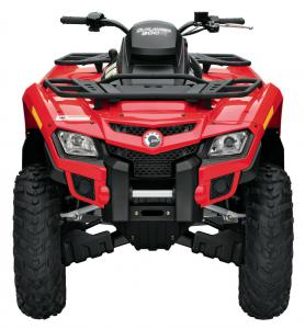 You won't mistake the striking Outlander for any other utility quad.