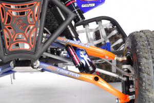 Fox Shox and ATV Four Play worked together to increase the front suspension travel by nearly an inch over stock.