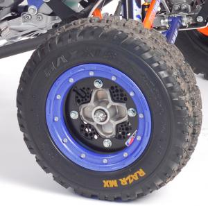 A DWT Champion in a Box wheel kit, which included their front Rok N Lok wheels, combined with a set of Maxxis soft-compound Razr MX tires improved traction on the YFZR.