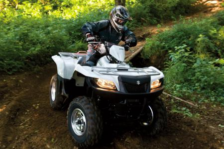 Power steering makes a world of difference to the handling of the KingQuad 500.