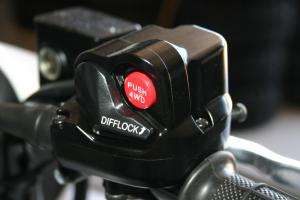 Switching from 2WD to 4WD is as simple as pushing a button. To engage the diff lock just flick the switch.