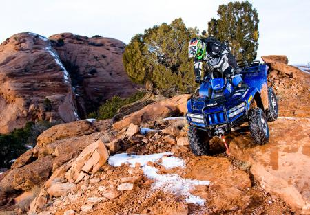 Thanks to power steering, rock crawling on this Arctic Cat is more controlled and less tiring.