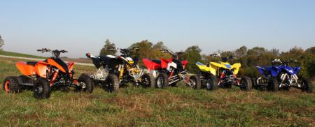 The five contenders for our 2010 450cc Motocross Shootout.