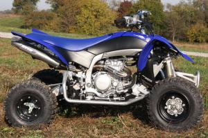 The YFZ450R frame is constructed using aluminum except for the bottom rail, which is made of steel to help lower the center of gravity.