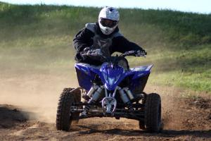 Despite its modest dyno numbers, the YFZ450R was a beast on the track.