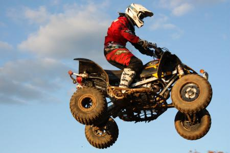Despite its strengths, our riders didn't churn out their best times on the DS 450 X mx.