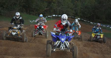 Our five motocross machines take to the track.