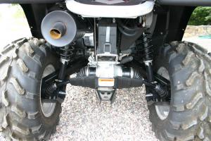 The Torsional Trailing Independent rear suspension in unique to Can-Am.