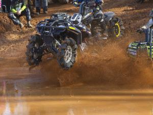 Drag racing through the mud bog.