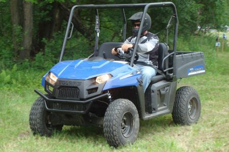 Polaris� Ranger EV is the first all-electric side-by-side from a major manufacturer.