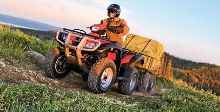 The FourTrax Foreman 4x4 is an eager working companion.
