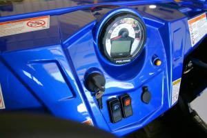 The blue color is new, but the dash is otherwise very similar to the RZR S.