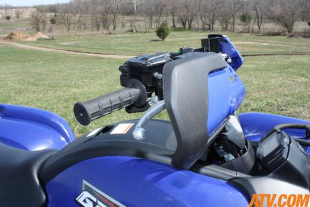 The Brush Deflectors help keep your hands clear of mud and rocks shot up from other ATVs.