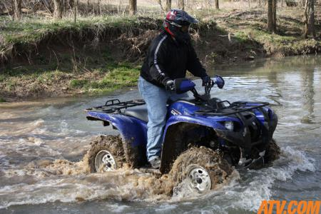 Thanks to the GYTR skid plates, unseen creek rocks were no longer a worry.