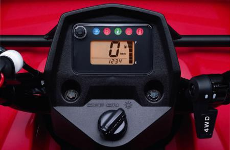 A digital display is now standard on KingQuad 400 models.