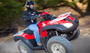 Though not as arm-stretching as many of the big bore ATVs from other manufacturers, the Rincon does produce good, predictable power.
