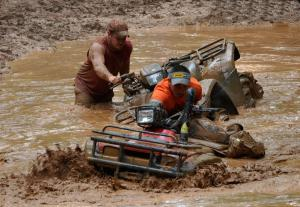 Navigating the mud bog took a lot of skill and a bit of luck.
