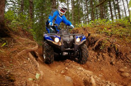 Thanks to power steering, handling the Grizzly in tight quarters and over rocky terrain is far less fatiguing on the rider.