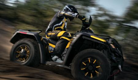 When you squeeze the throttle on the Outlander 800R you'd better be prepared to hang on tight.