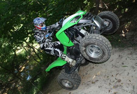 Getting the front wheels off the ground is child�s play.