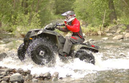 2011 polaris sportsman 400 ho review atv a few deeper creek crossings with hidden holes and large moss covered rocks were an ideal test for this atv and its 44 system sciox Gallery