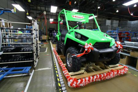 Rolling into the history books, this Teryx makes its way down the line.